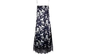 Černé delší květinové šaty na ramínka Miss Selfridge