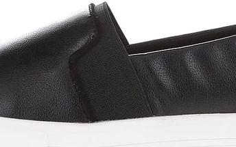 Černé kožené dámské slip on tenisky ALDO Glaser