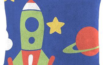 Dětský polštářek beránek Mistral Home Space vesmírné lodě 40x40 cm