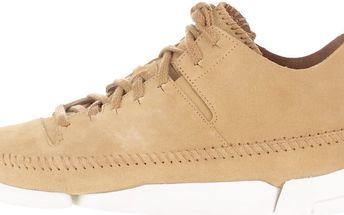 Béžové pánské semišové boty Clarks Trigenic Flex