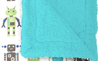 Pléd Mistral Home beránek Roboti 130x170 cm