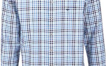 Bílo-modrá kostkovaná košile Fynch-Hatton