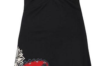 Černé šaty s véčkovým výstřihem Desigual Patsy