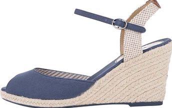 Tmavě modré dámské sandálky na klínku Pepe Jeans