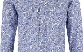 Bílo-modrá vzorovaná košile Selected Homme One Tom