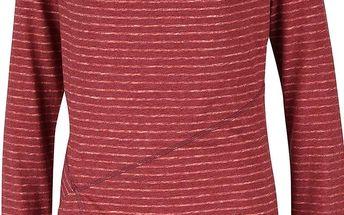 Červené dámské pruhované tričko s dlouhým rukávem Ragwear Yolanda
