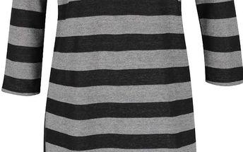 Šedé pruhované šaty Tanis b.young
