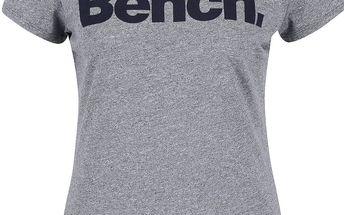 Modré žíhané dámské tričko s potiskem Bench
