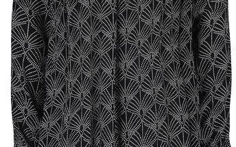 Černé volné vzorované šaty Roxy Definitely