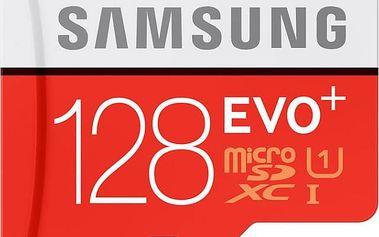 Samsung Micro SDHC karta 128GB EVO Plus + SD adaptér