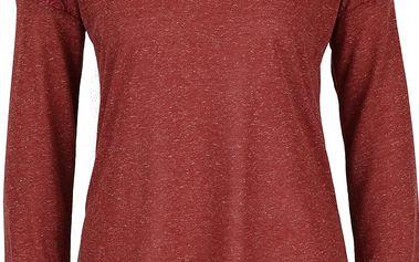 Cihlové dámské žíháné tričko s dlouhým rukávem Rip Curl Quilotta