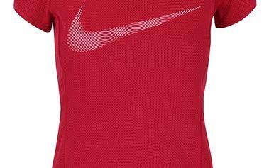 Vínové dámské funkční tričko Nike Dry Contour
