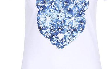 Bílé dámské tričko s potiskem medvěda Horsefeathers Polar Bear