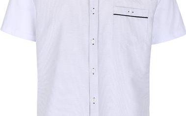 Modro-bílá košile s kapsou Burton Menswear London