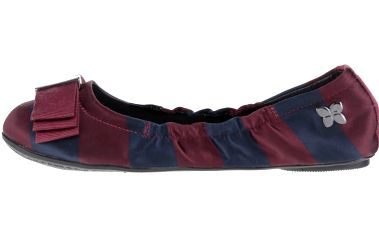 Modro-vínové pruhované baleríny do kabelky Butterfly Twists Sloan