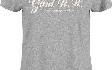 Šedé dámské tričko s potiskem GANT