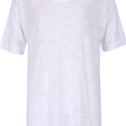 Bílé dámské oversize tričko s jemným vzorem Bench Corridor