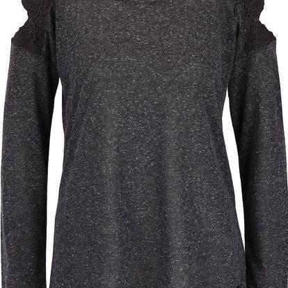 Šedé dámské žíhané tričko s dlouhým rukávem Rip Curl Quilotta
