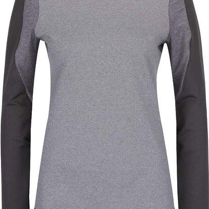 Šedé dámské funkční tričko s dlouhým rukávem Under Armour ColdGear Armour Elements Mock
