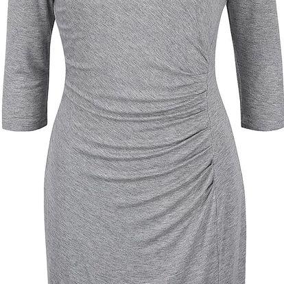 Šedé šaty s 3/4 rukávy Fever London Portland