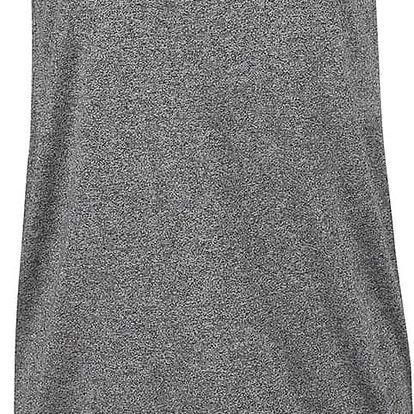 Černé žíhané šaty s všitým vnitřním dílem Ragwear Janet