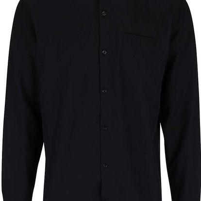 Černá košile s kapsou Lindbergh