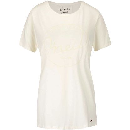 Krémové dámské tričko s potiskem O'Neill Base Brand