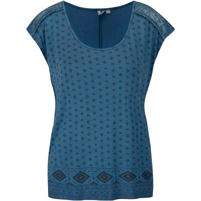 Modré dámské vzorované tričko Rip Curl Villarica