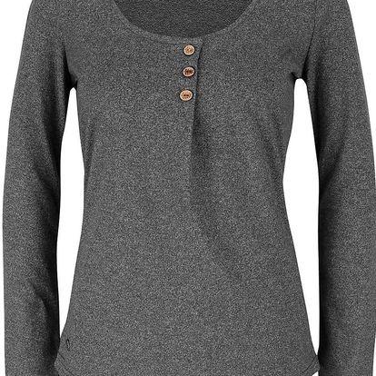 Tmavě šedé dámské žíhané tričko s dlouhým rukávem Ragwear Mayra Organic