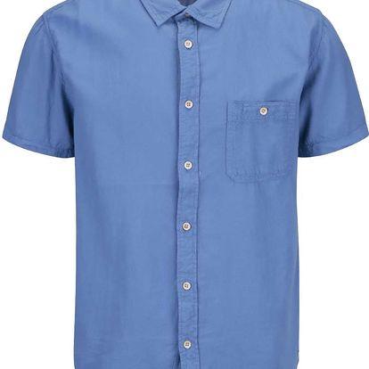 Modrá pánská košile s krátkým rukávem Quiksilver Time Box