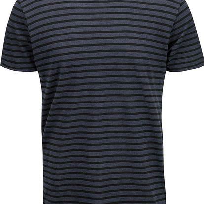 Tmavě modré triko s pruhy Selected Homme Monte