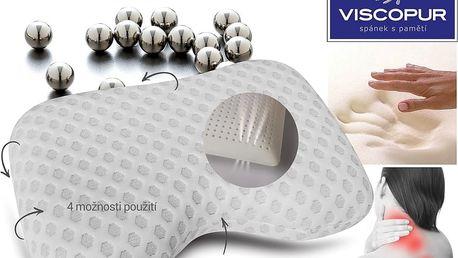 Anatomický polštář VISCOPUR® ANTISTRESS SILVER 40X60cm