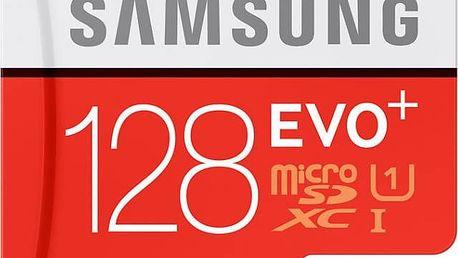 Paměťová karta Samsung Micro SDXC EVO+ 128GB UHS-I U1 (80R/20W) + adapter (MB-MC128DA/EU)
