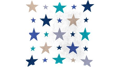 Dětský polštářek beránek Mistral Home Starry sky modrá hvězdičky 40x40 cm