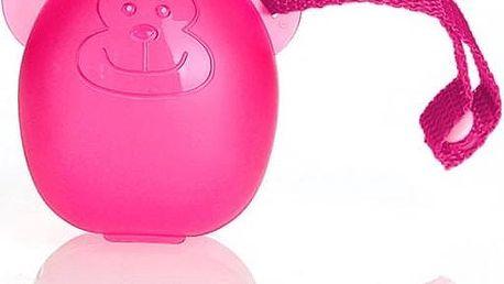 Pouzdro na dudlík DIAGO Pouzdro na dudlík opička růžové