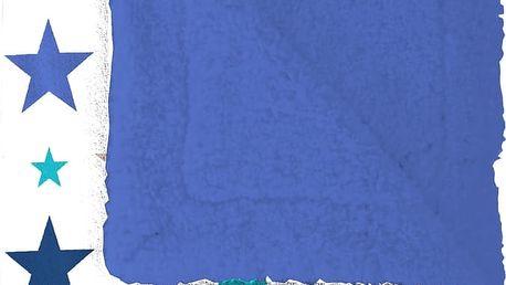 Pléd Mistral Home beránek Starry sky modrá hvězdičky 130x170 cm