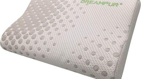 Anatomický polštář z latexové pěny DREAMPUR® grey dots profilovaný