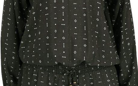 Zelenošedé vzorované šaty s 3/4 rukávy Rip Curl Irissa