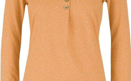 Žluté dámské žíhané tričko s kulatým výstřihem a dlouhým rukávem Ragwear Mayra Organic