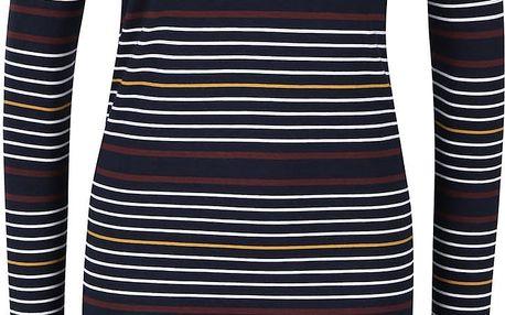 Tmavě modré šaty s barevnými pruhy Noisy May Augusta