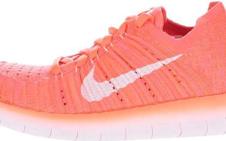 Neonově oranžové dámské tenisky Nike Free Flyknit