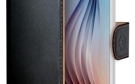 Pouzdro na mobil flipové Celly pro Galaxy S6 (WALLY490) černé