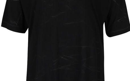 Černé dámské oversize tričko s jemným vzorem Bench Corridor