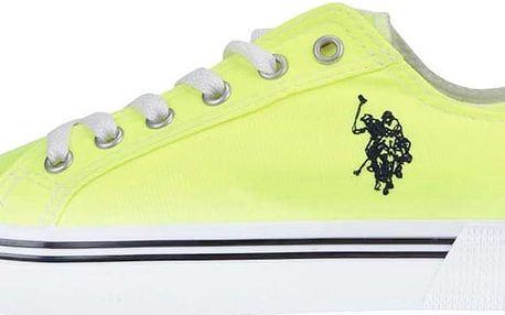 Neonově žluté dámské tenisky se znakem U.S. Polo Assn. Norw Fluo