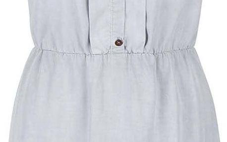 Světle šedé šaty bez rukávů s knoflíky s.Oliver