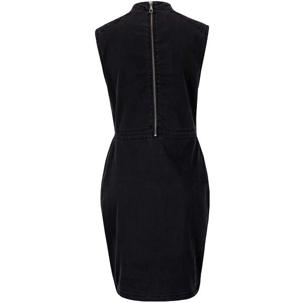 Tmavě šedé džínové šaty s rolákem Noisy May Maya3