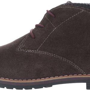 Hnědé dámské semišové kotníkové boty bugatti Davida