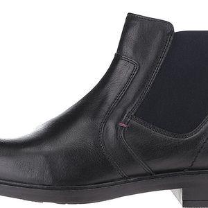 Černé pánské kožené chelsea boty Tommy Hilfiger