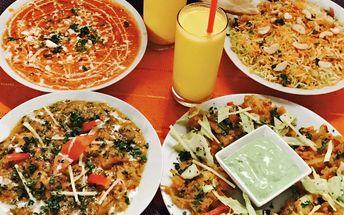 Indické menu s nápojem a dezertem pro 2