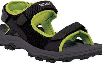 Pánské sandály Regatta RMF396 TERRAROCK Blk/Limegrn